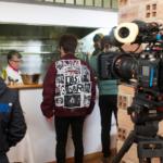 Salle de restaurant transformée en studio